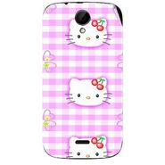 Snooky 41975 Digital Print Mobile Skin Sticker For Intex Aqua i3 - Pink