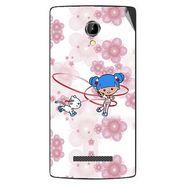 Snooky 42089 Digital Print Mobile Skin Sticker For Intex Aqua N8 - White