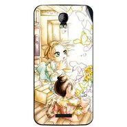 Snooky 42126 Digital Print Mobile Skin Sticker For Intex Aqua Q1 - White