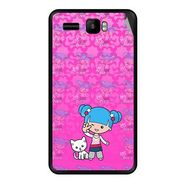 Snooky 42154 Digital Print Mobile Skin Sticker For Intex Aqua R3 - Pink