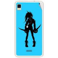 Snooky 42174 Digital Print Mobile Skin Sticker For Intex Aqua Star 5.0 - Blue
