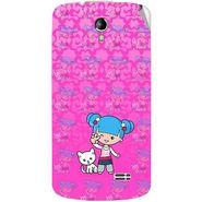 Snooky 42220 Digital Print Mobile Skin Sticker For Intex Aqua SUPERB - Pink
