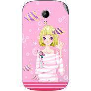 Snooky 42224 Digital Print Mobile Skin Sticker For Intex Aqua T2 - Pink