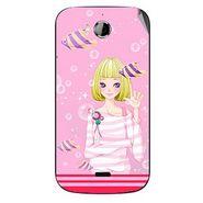Snooky 42246 Digital Print Mobile Skin Sticker For Intex Aqua Wonder - Pink
