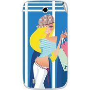 Snooky 42355 Digital Print Mobile Skin Sticker For Intex Cloud Y4 Plus - Blue