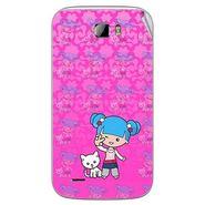 Snooky 42385 Digital Print Mobile Skin Sticker For Intex Cloud Z5 - Pink