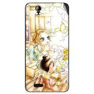 Snooky 42390 Digital Print Mobile Skin Sticker For Intex Aqua Style Pro - White