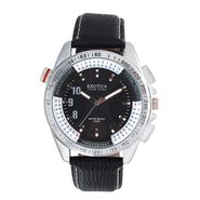 Exotica Fashions Analog Round Dial Watches_E11ls29 - Black