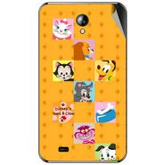 Snooky 46304 Digital Print Mobile Skin Sticker For Micromax Superfone A101 - Yellow