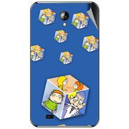 Snooky 46320 Digital Print Mobile Skin Sticker For Micromax Superfone A101 - Blue