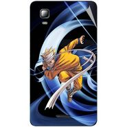 Snooky 46335 Digital Print Mobile Skin Sticker For Micromax Canvas Doodle 3 A102 - Blue