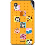 Snooky 46336 Digital Print Mobile Skin Sticker For Micromax Canvas Doodle 3 A102 - Yellow
