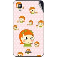 Snooky 46355 Digital Print Mobile Skin Sticker For Micromax Canvas Doodle 3 A102 - Orange