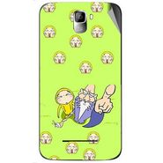 Snooky 46418 Digital Print Mobile Skin Sticker For Micromax Canvas Entice A105 - Green
