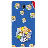 Snooky 46448 Digital Print Mobile Skin Sticker For Micromax Unite 2 A106 - Blue
