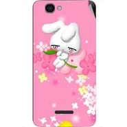 Snooky 46617 Digital Print Mobile Skin Sticker For Micromax Canvas 2 A120 - Pink