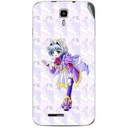 Snooky 46699 Digital Print Mobile Skin Sticker For Micromax Canvas Juice A177 - Purple