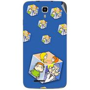 Snooky 46704 Digital Print Mobile Skin Sticker For Micromax Canvas Juice A177 - Blue