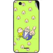 Snooky 46834 Digital Print Mobile Skin Sticker For Micromax Canvas knight cameo A290 - Green