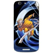 Snooky 46847 Digital Print Mobile Skin Sticker For Micromax Canvas A300 - Blue