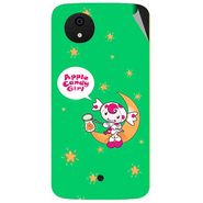 Snooky 47000 Digital Print Mobile Skin Sticker For Micromax Android One - Green