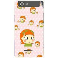 Snooky 47218 Digital Print Mobile Skin Sticker For Xolo A500s - Orange