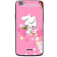 Snooky 47224 Digital Print Mobile Skin Sticker For Xolo A500s Lite - Pink