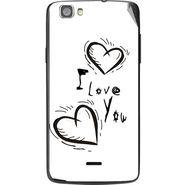 Snooky 47588 Digital Print Mobile Skin Sticker For Xolo Q610s - White