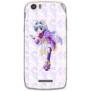 Snooky 47658 Digital Print Mobile Skin Sticker For Xolo Q700s - Purple
