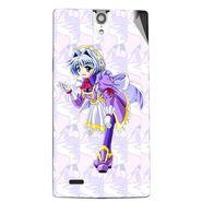 Snooky 47850 Digital Print Mobile Skin Sticker For Xolo Q1010i - Purple