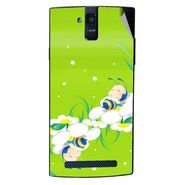 Snooky 47898 Digital Print Mobile Skin Sticker For Xolo Q2000 - Green