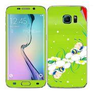 Snooky 48249 Digital Print Mobile Skin Sticker For Samsung Galaxy S6 Edge - Green
