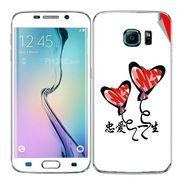 Snooky 48260 Digital Print Mobile Skin Sticker For Samsung Galaxy S6 Edge - White