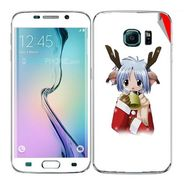 Snooky 48263 Digital Print Mobile Skin Sticker For Samsung Galaxy S6 Edge - White