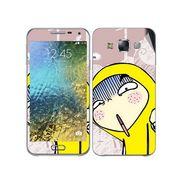 Snooky 48303 Digital Print Mobile Skin Sticker For Samsung Galaxy E7 - Multicolour