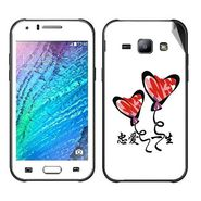 Snooky 48324 Digital Print Mobile Skin Sticker For Samsung Galaxy J1 - White