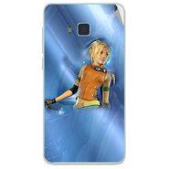 Snooky 48410 Digital Print Mobile Skin Sticker For Lava Iris 406Q - Blue