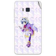 Snooky 48425 Digital Print Mobile Skin Sticker For Lava Iris 406Q - Purple