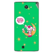 Snooky 48438 Digital Print Mobile Skin Sticker For Lava Iris 456 - Green