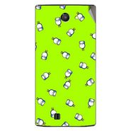 Snooky 48448 Digital Print Mobile Skin Sticker For Lava Iris 456 - Green
