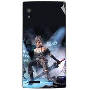 Snooky 48571 Digital Print Mobile Skin Sticker For Lava Iris Fuel 60 - Blue