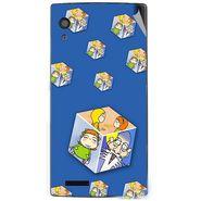Snooky 48590 Digital Print Mobile Skin Sticker For Lava Iris Fuel 60 - Blue