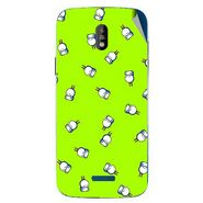 Snooky 48672 Digital Print Mobile Skin Sticker For Lava Iris 450 - Green