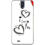 Snooky 48707 Digital Print Mobile Skin Sticker For Lava Iris 550Q - White