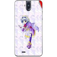 Snooky 48713 Digital Print Mobile Skin Sticker For Lava Iris 550Q - Purple