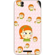 Snooky 48817 Digital Print Mobile Skin Sticker For Lava Iris X1 - Orange
