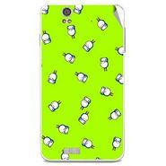 Snooky 48832 Digital Print Mobile Skin Sticker For Lava Iris X5 - Green