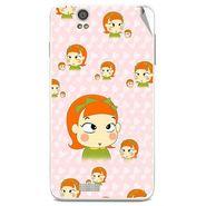 Snooky 48849 Digital Print Mobile Skin Sticker For Lava Iris X5 - Orange