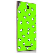 Snooky 48896 Digital Print Mobile Skin Sticker For Lava Magnum X604 - Green