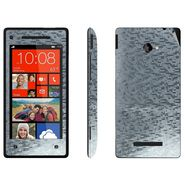 Snooky 18302 Mobile Skin Sticker For Htc 8X - Silver